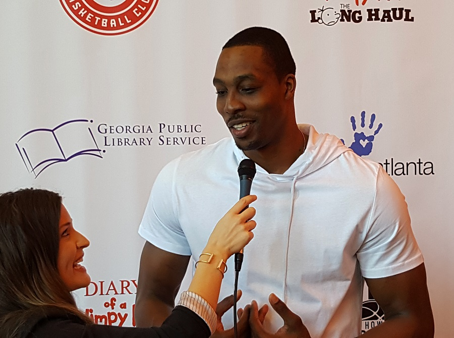 Atlanta Hawks player Dwight Howard gives interview about the Check It Out Reading Challenge