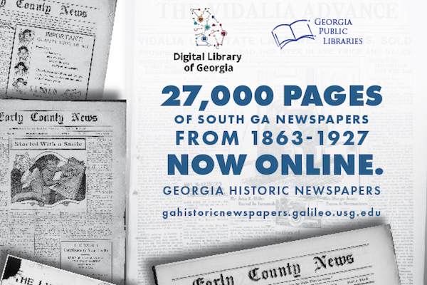 Early, Montgomery, Toombs County Newspapers Added to Georgia Historic Newspapers Site