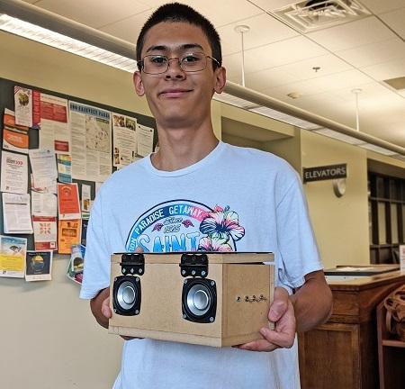 teen in makerspace