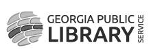 Georgia Public Library Service logo grayscale