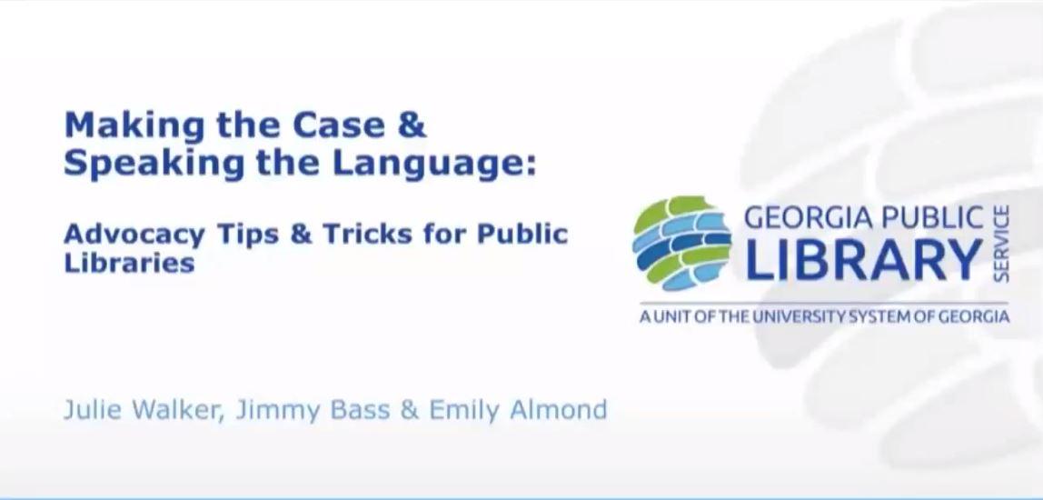 library advocacy webinar