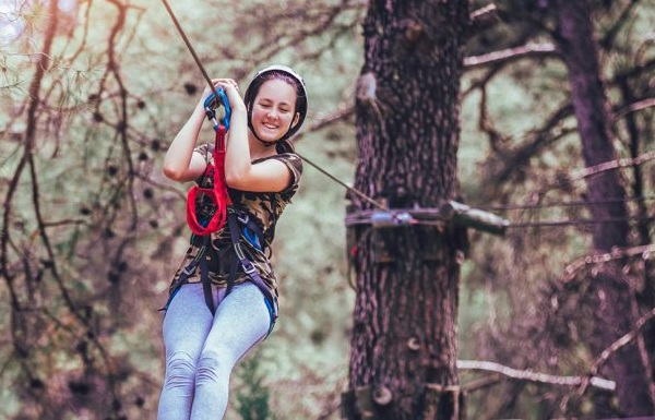 Chattahoochee Nature Center - girl on zipline