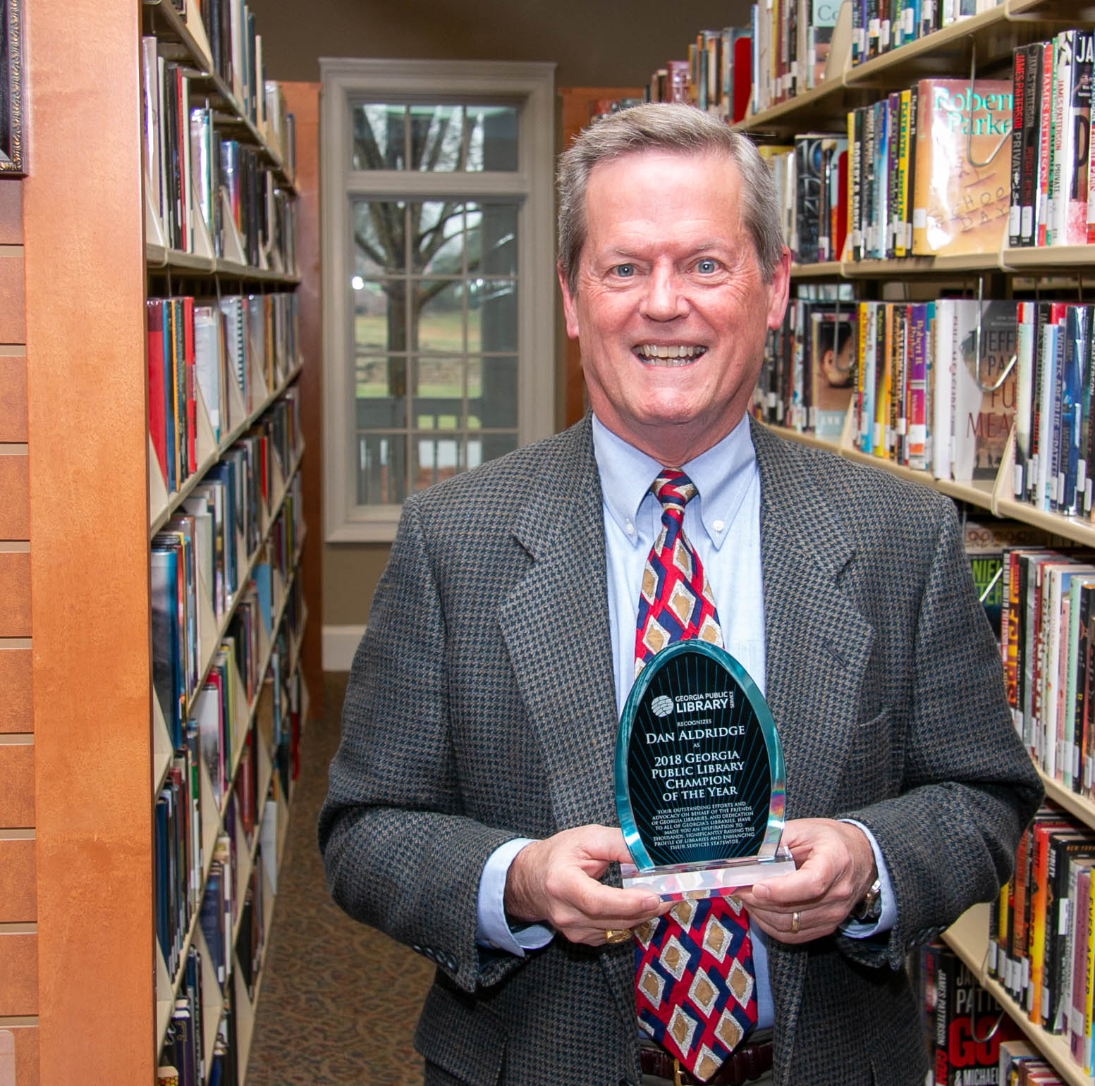 Dan Aldridge library champion