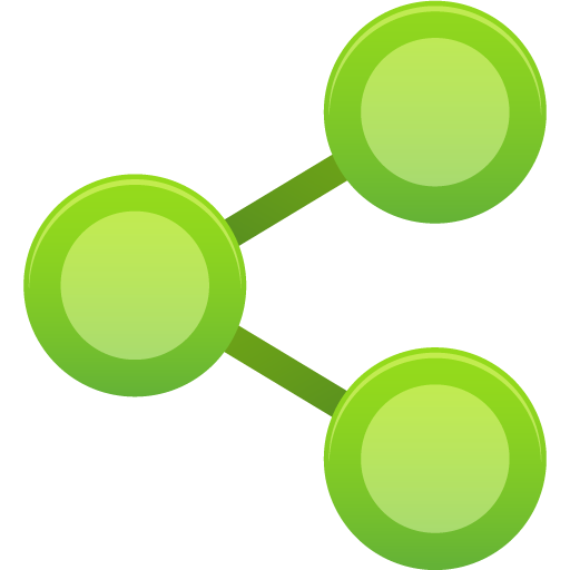 green media share icon