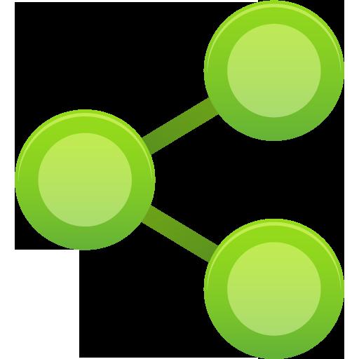 green media share icon