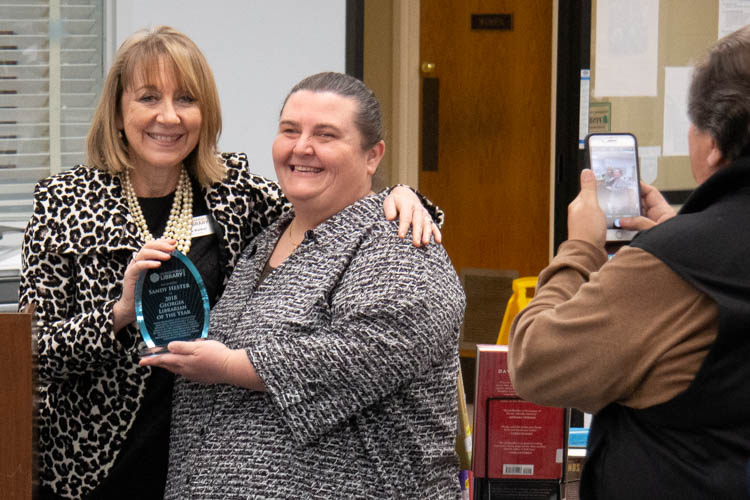 librarian of the year 2018 Sandy Hester