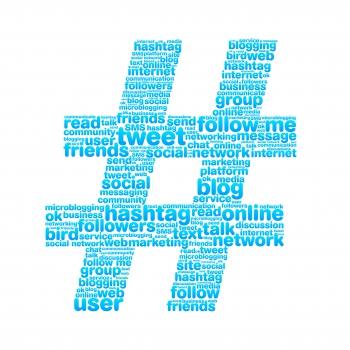 social media hashtag graphic