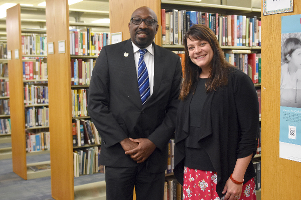 Emanuel Mitchell, director of library services for the Georgia Department of Corrections and Stacy Brown, director of Uncle Remus Library System