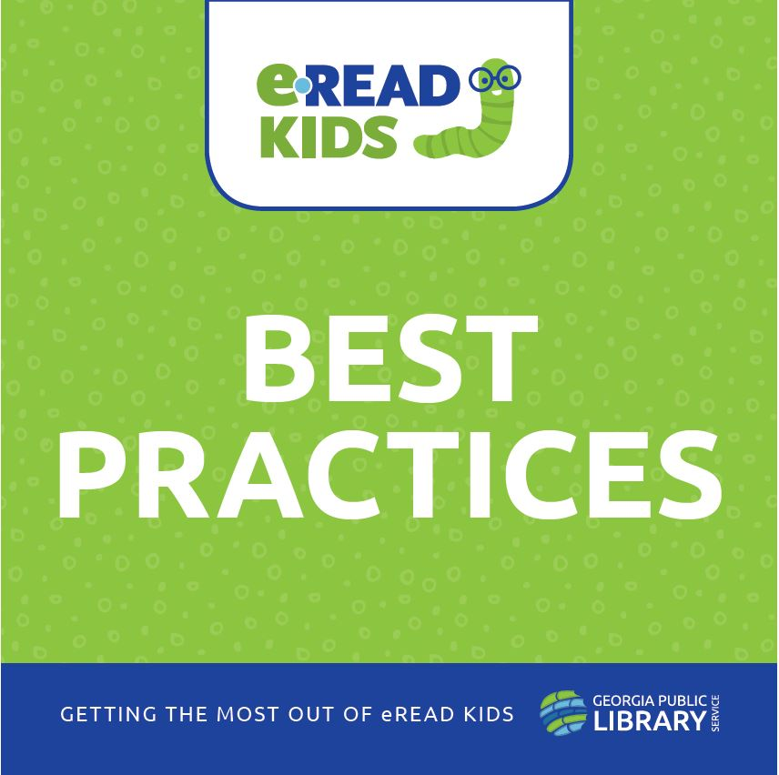 cover of eread kids best practices guide