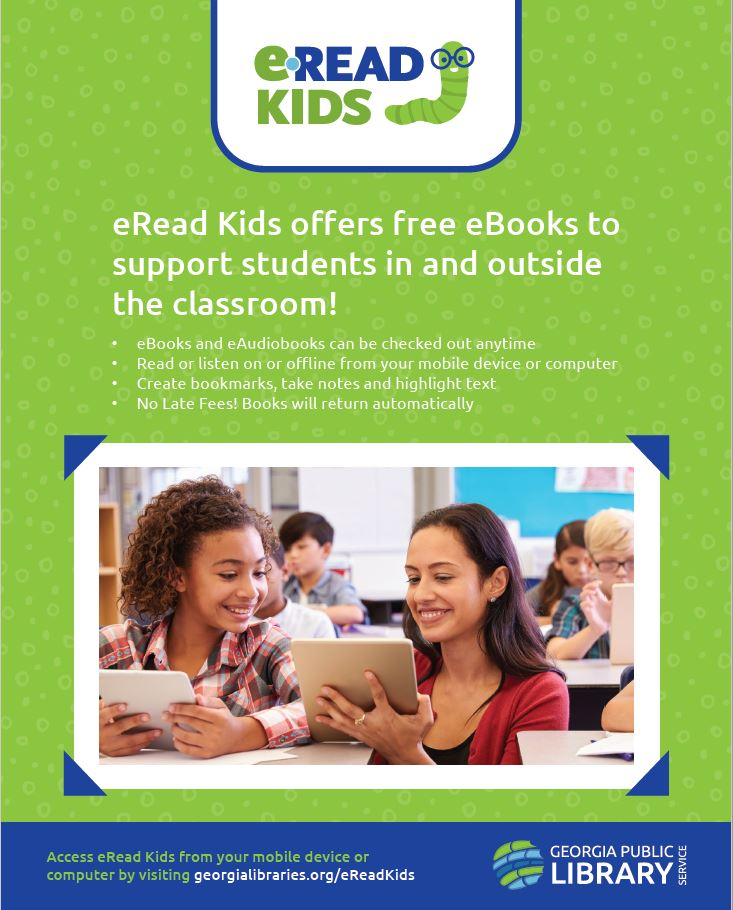 image of eread kids library flyer