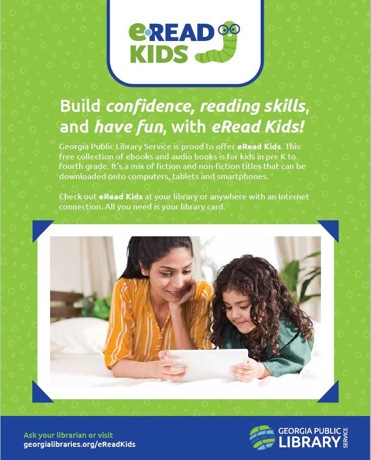 image of eread kids digital library flyer