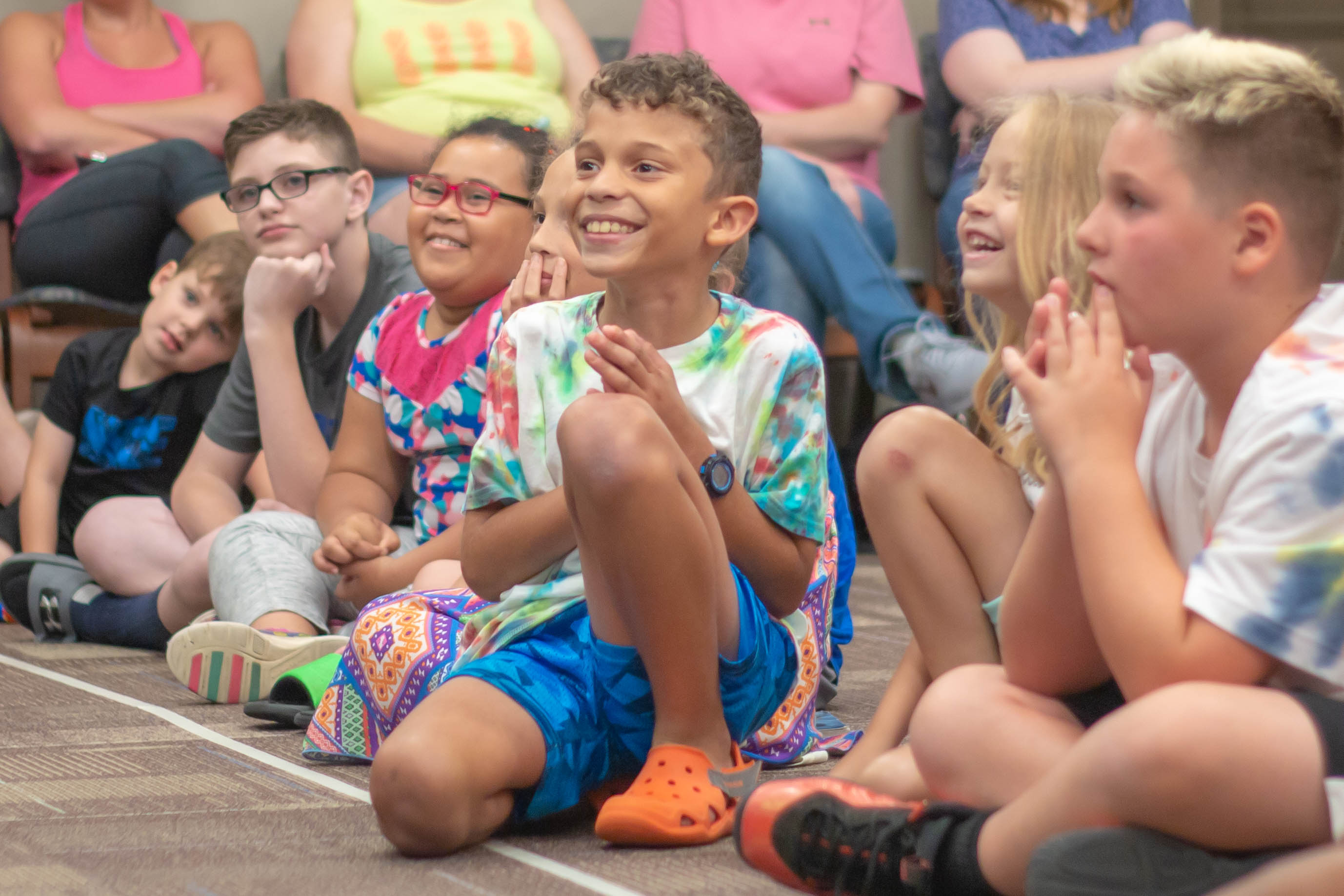 photo of children at a library summer reading event