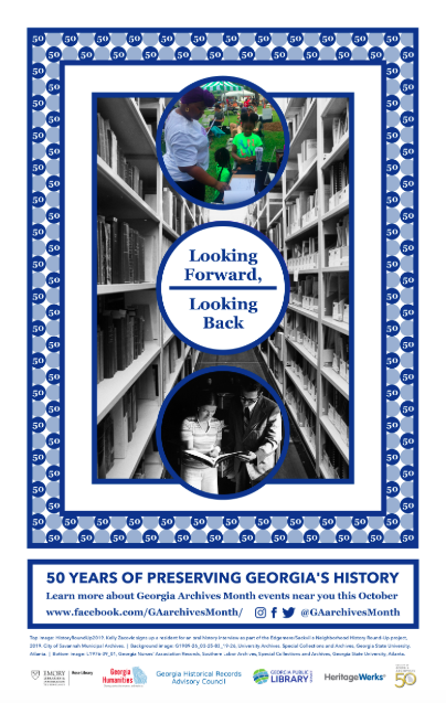 society of georgia archivists georgia archives month poster