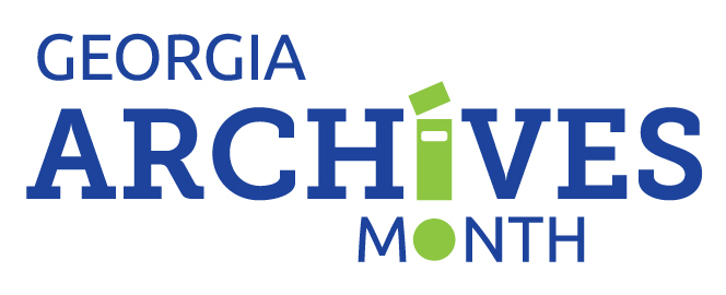 Georgia Archives Month logo graphic