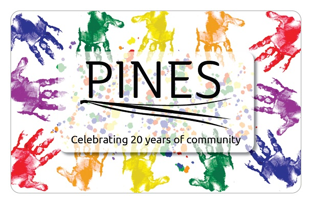 winning PINES library card design