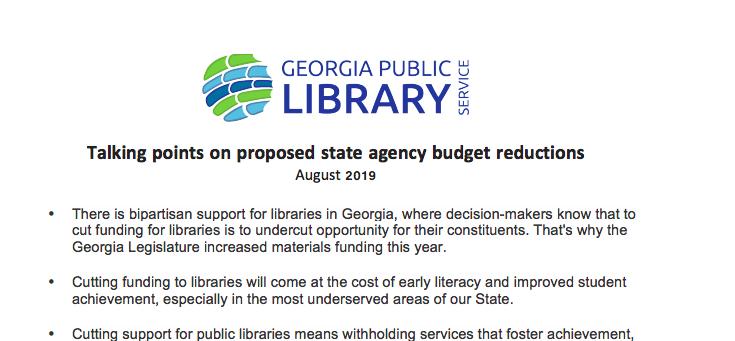 budget cuts talking points