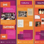 She Gathers Me exhibit graphic