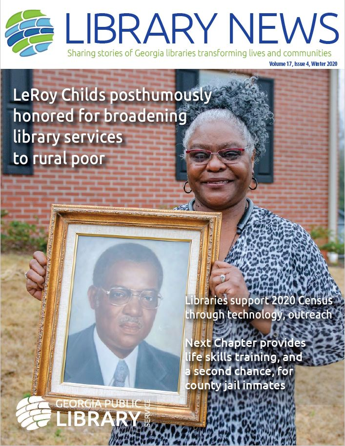 Cover of Georgia Public Library Service winter 2020 newsletter