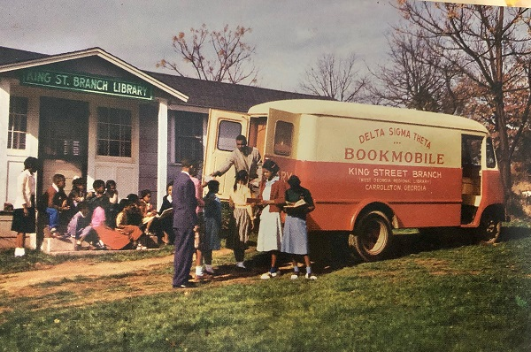 leroy childs working at the bookmobile
