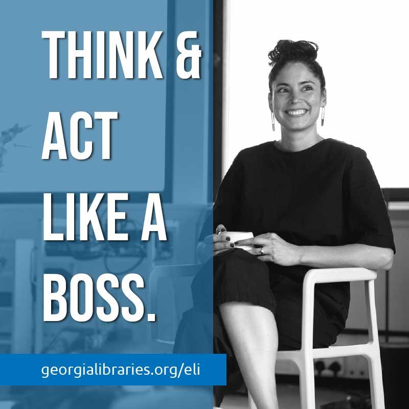 female entrepreneur sitting in chair