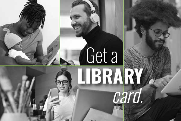 get a library card graphic