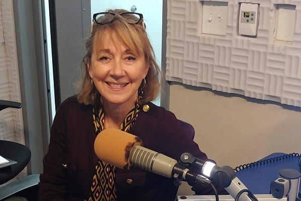 julie walker in studio