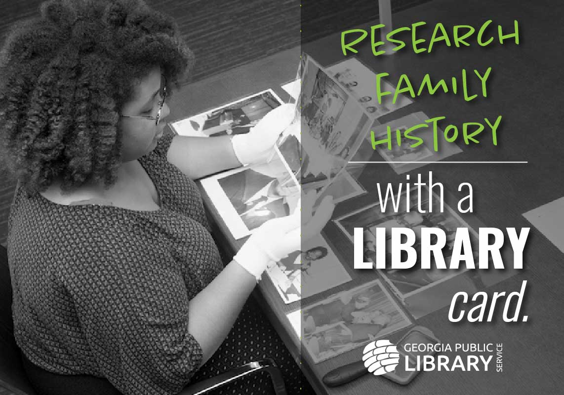 research family history with a library card