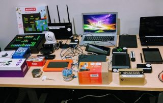 technology gadgets and electronics in technology learning kit