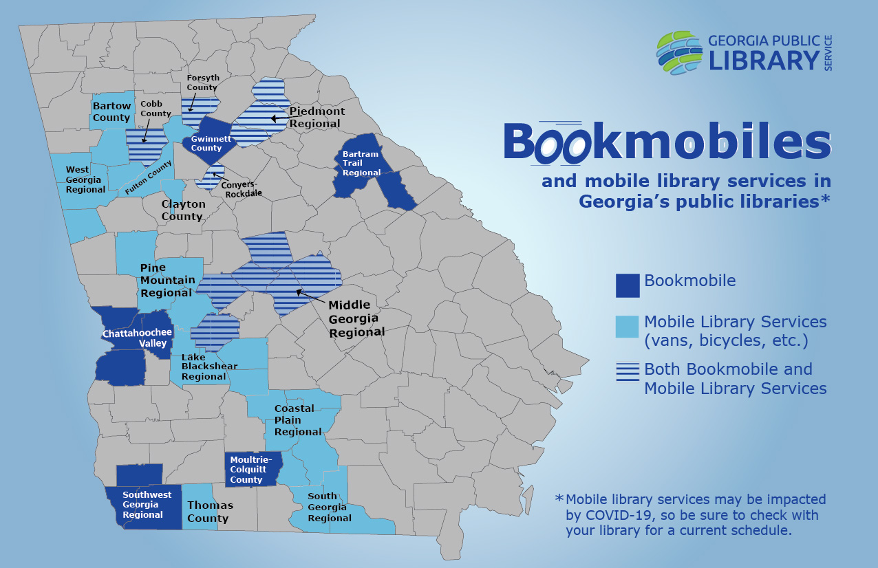 bookmobiles and mobile library services in Georgia