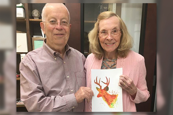 tom hart with watercolor student