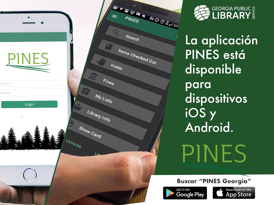 PINES mobile app graphic