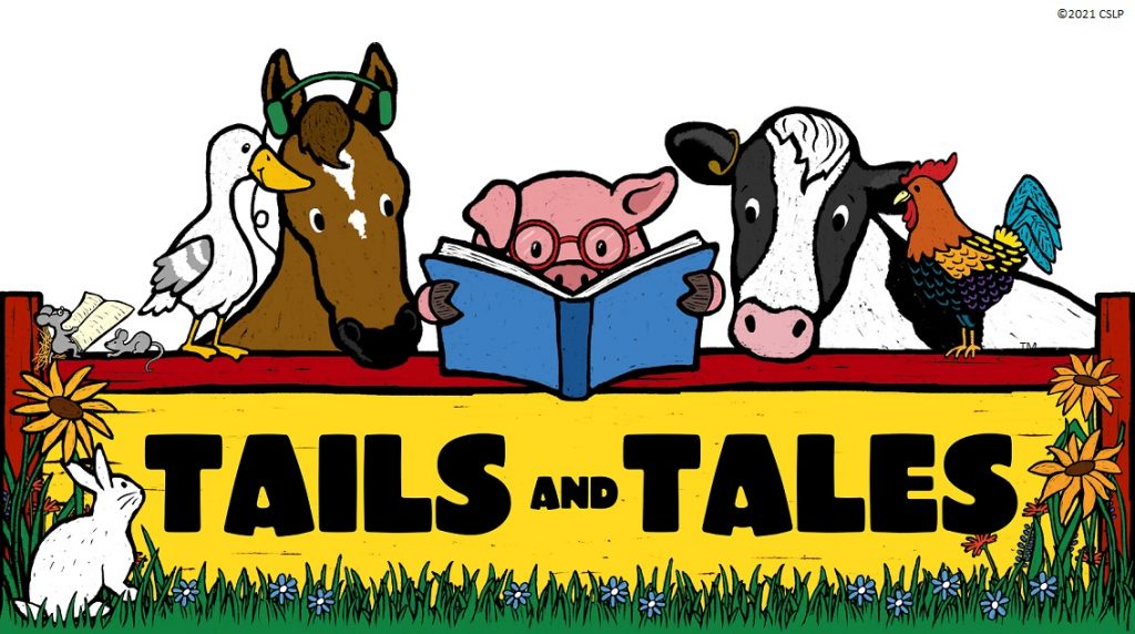 summer reading tails and tales theme banner