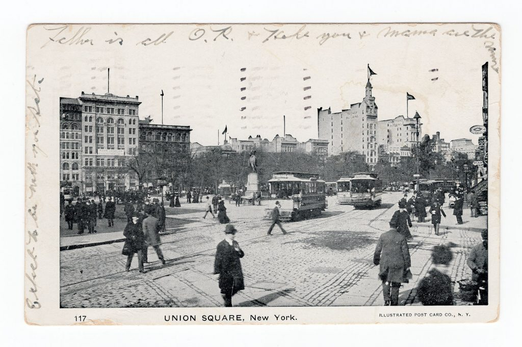 historical image of Union Square in NY