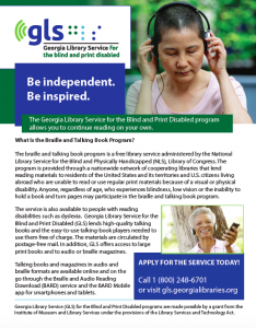 georgia library service for blind and print disabled flier thumbnail
